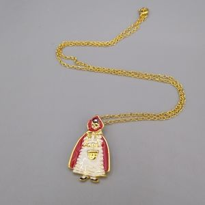 Little Red Riding Hood Enamel Pendant Necklace